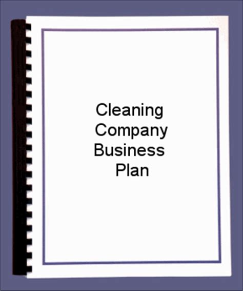 Free business plan template for service company